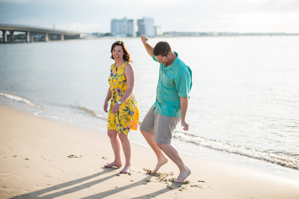 Summer Beach Engagement Session