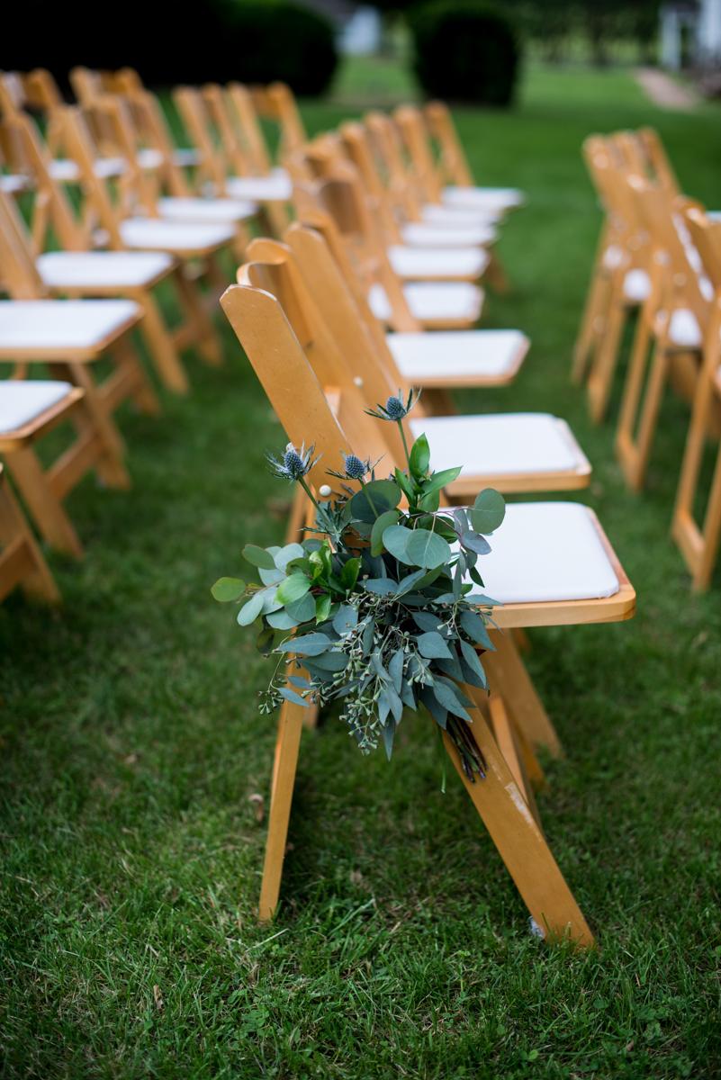 James Monroe Highland Wedding in Charlottesville | Rainy day wedding ceremony