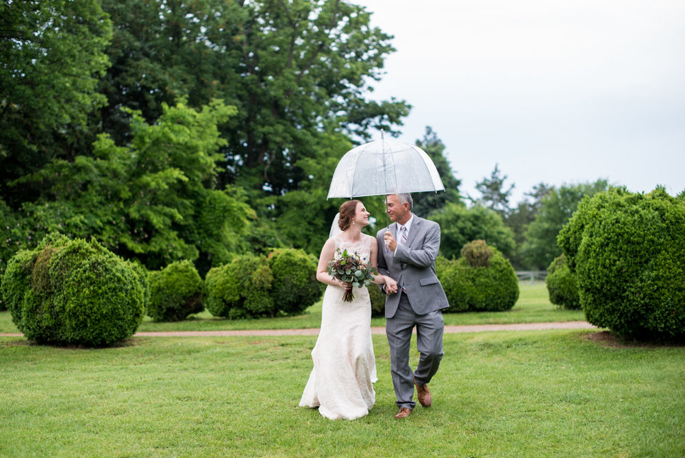 James Monroe Highland Wedding in Charlottesville | Dad walking bride to the altar