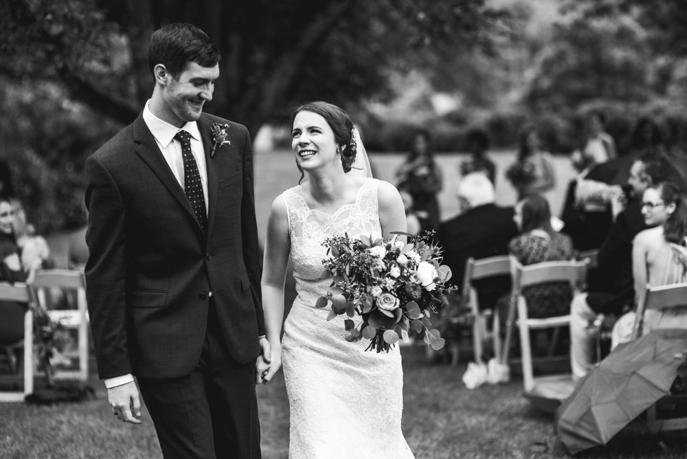 James Monroe Highland Wedding in Charlottesville | Bride and groom recessional