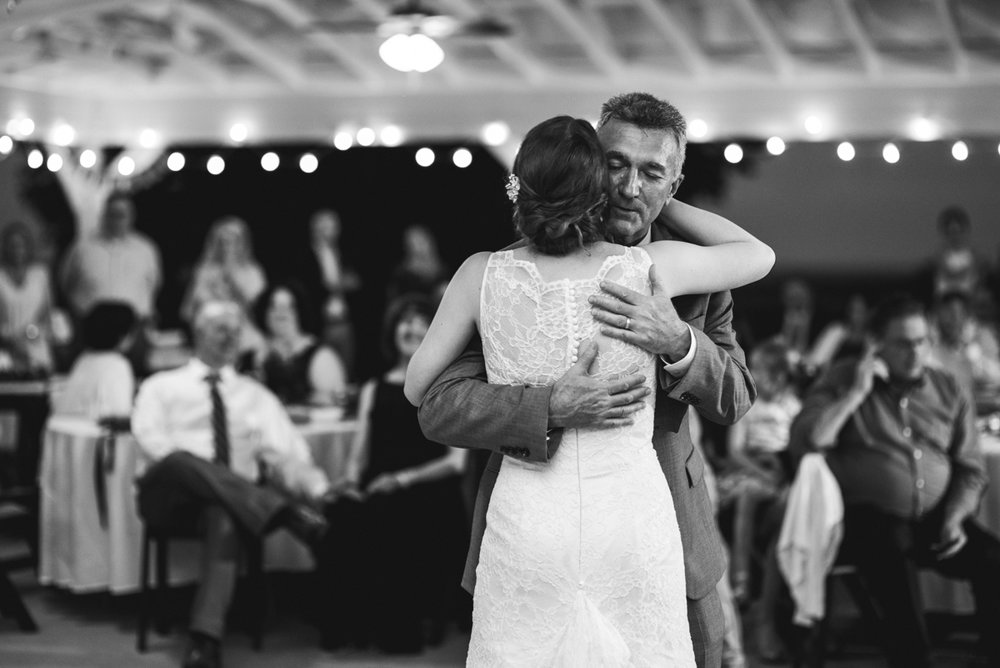 James Monroe Highland Wedding in Charlottesville | Father daughter wedding dance
