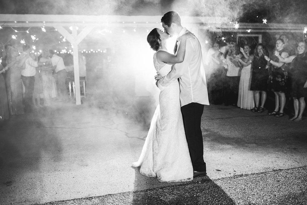 James Monroe Highland Wedding in Charlottesville | Sparkler exit
