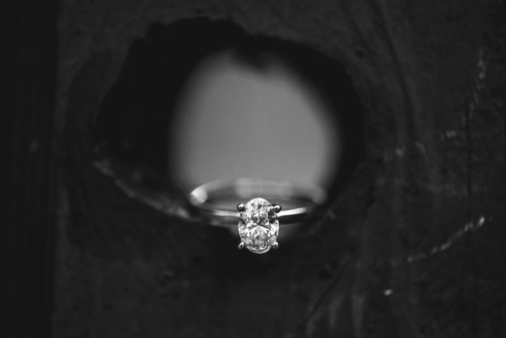Black and White Oval Ring Shot