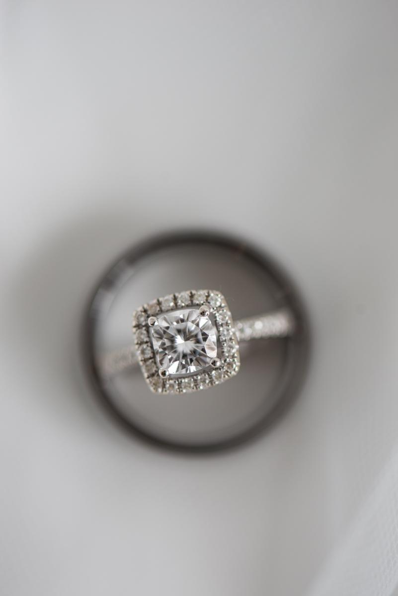 Yellow, Navy, and White Summer Wedding | Wedding Ring Shot