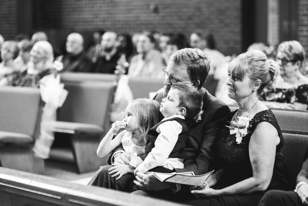 Yellow, Navy, and White Summer Wedding | Wedding ceremony