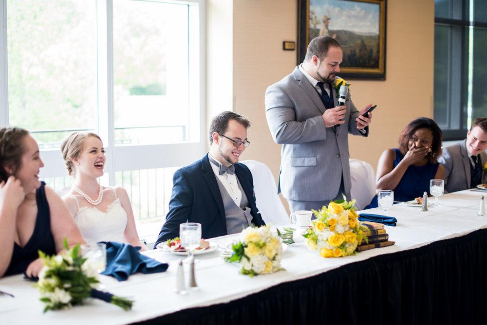 Yellow, Navy, and White Summer Wedding | Best man speech