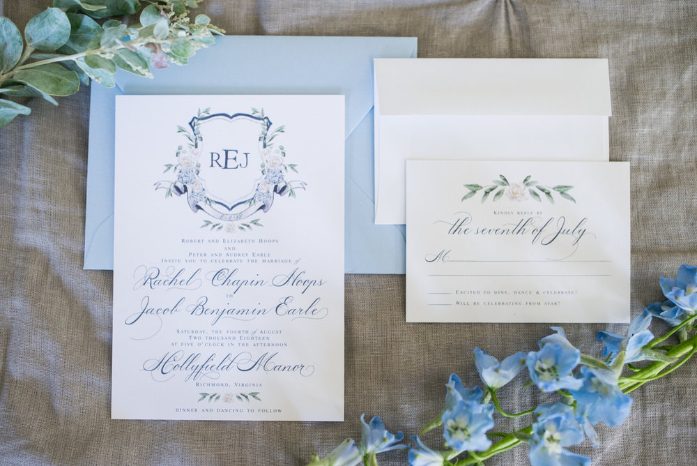 Navy and White Summer Wedding | Navy and White Wedding Invitations