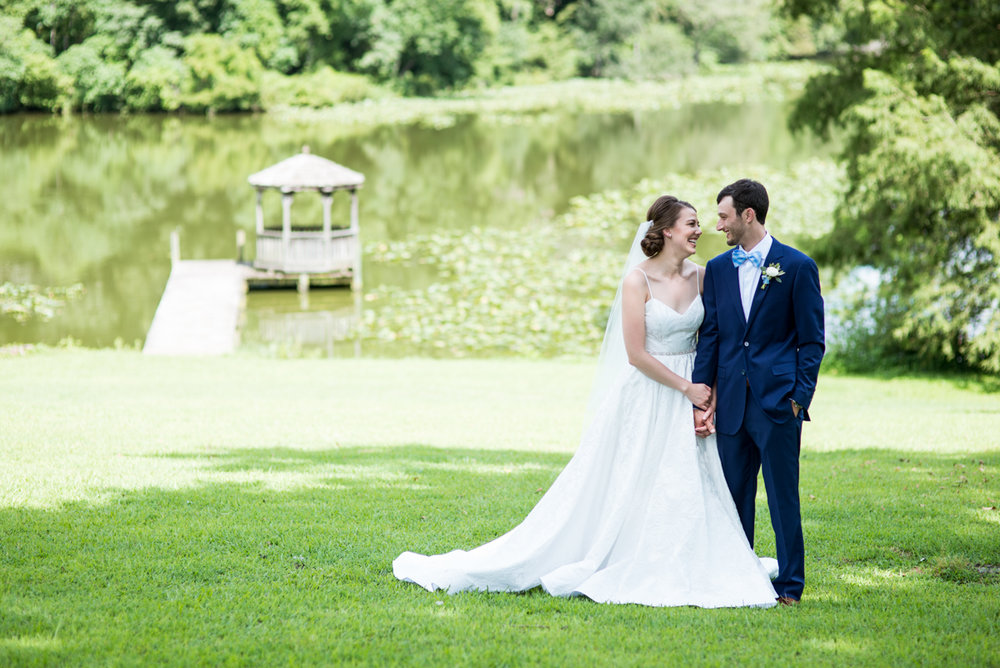 Navy and White Summer Wedding | Bride and Groom Portraits