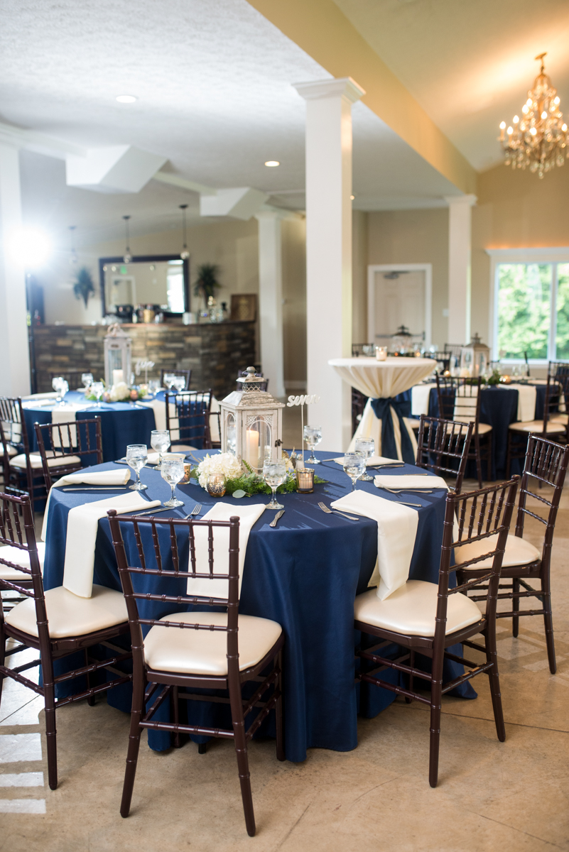 Navy and White Summer Wedding | Navy and White Wedding Reception