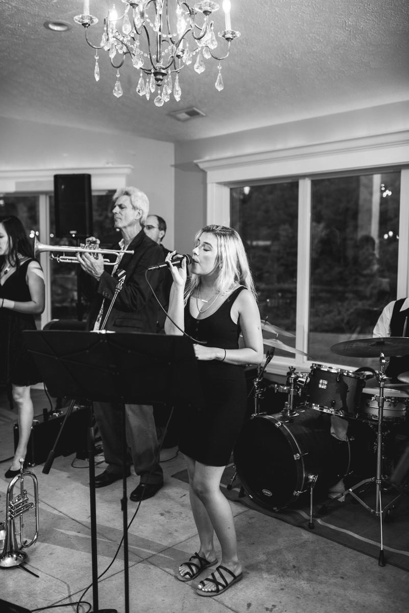 Navy and White Summer Wedding | Live wedding band