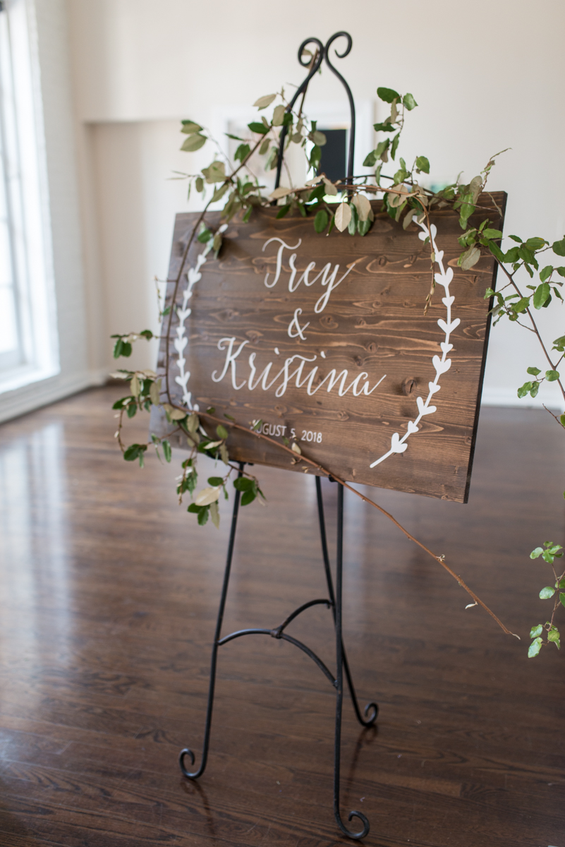 Minimalist White and Green Summer Wedding | Wedding Welcome Sign