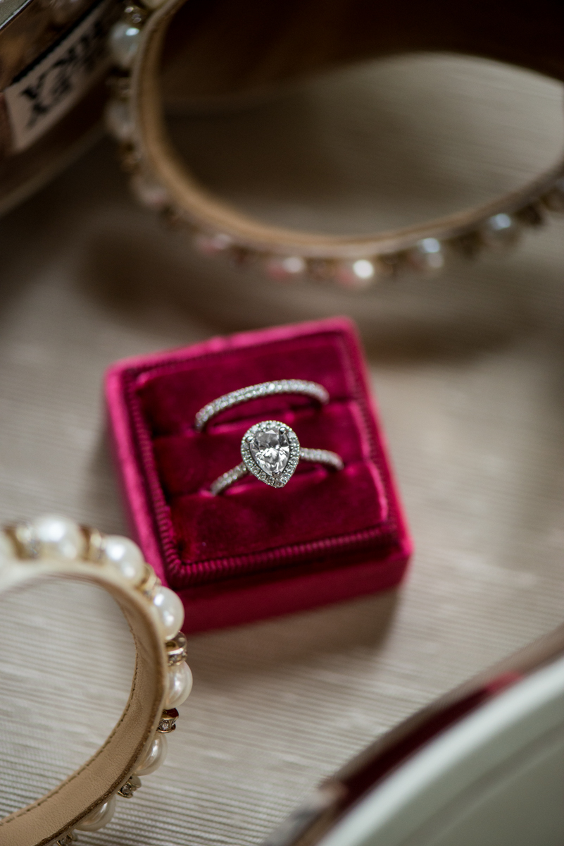 Scottish Themed Wedding with Burgundy and Copper   Burgundy The Mrs Box Ring Shot