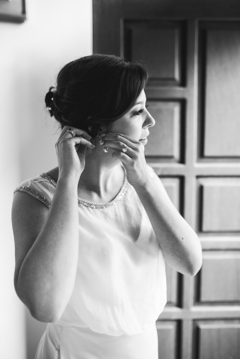 Scottish Themed Wedding with Burgundy and Copper | Bride getting ready