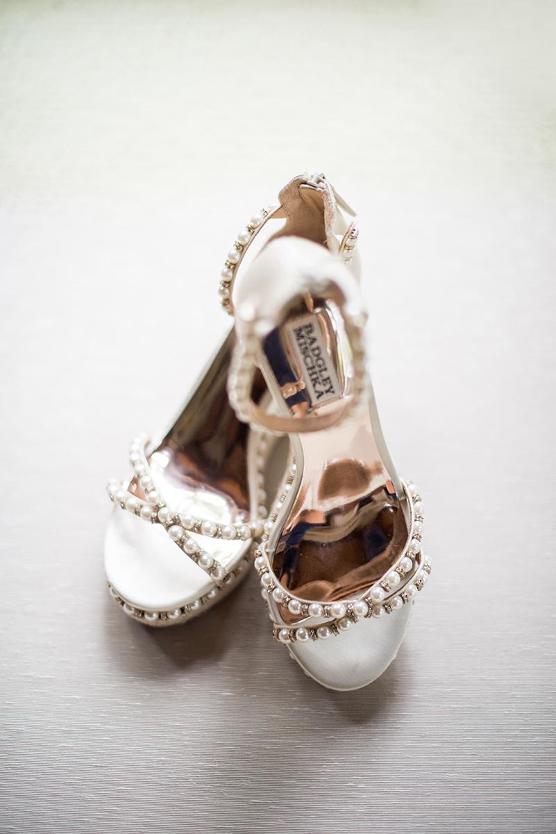 Scottish Themed Wedding with Burgundy and Copper | Badgley Mischka Bridal Wedges