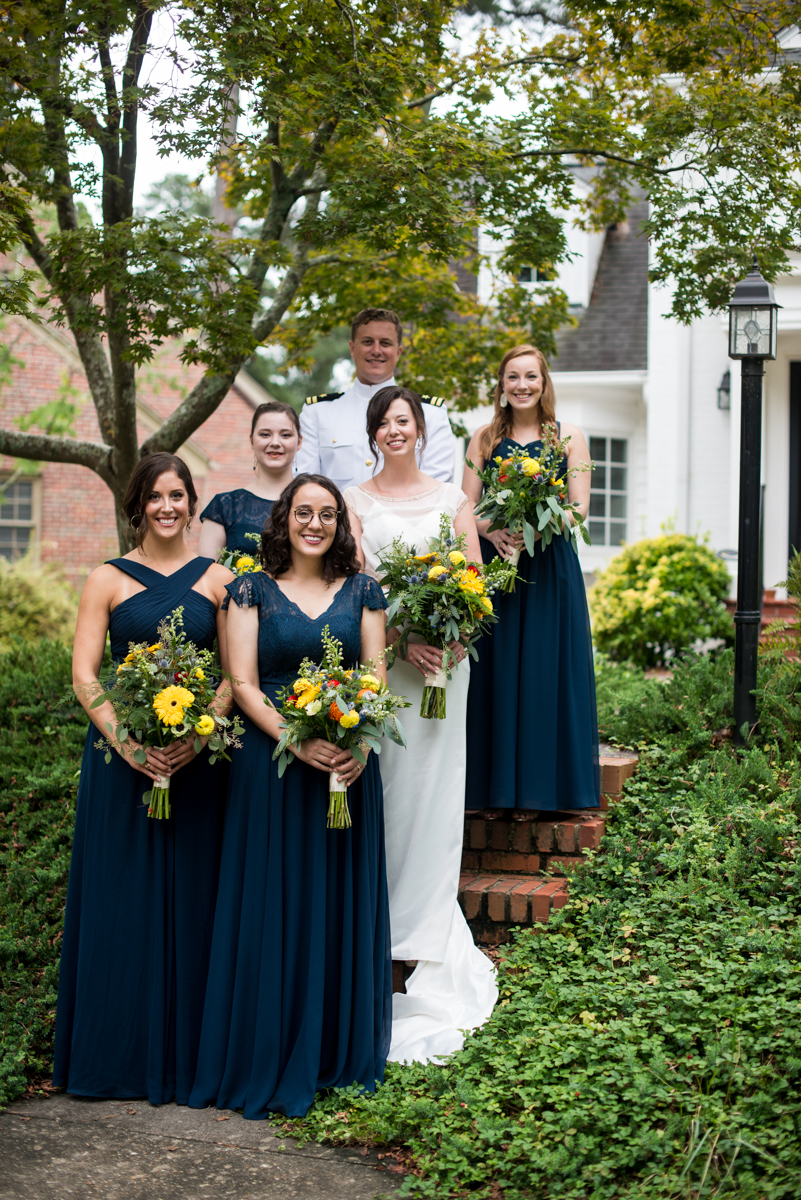 Scottish Themed Wedding with Burgundy, Navy, and Copper | Navy Bridal Party