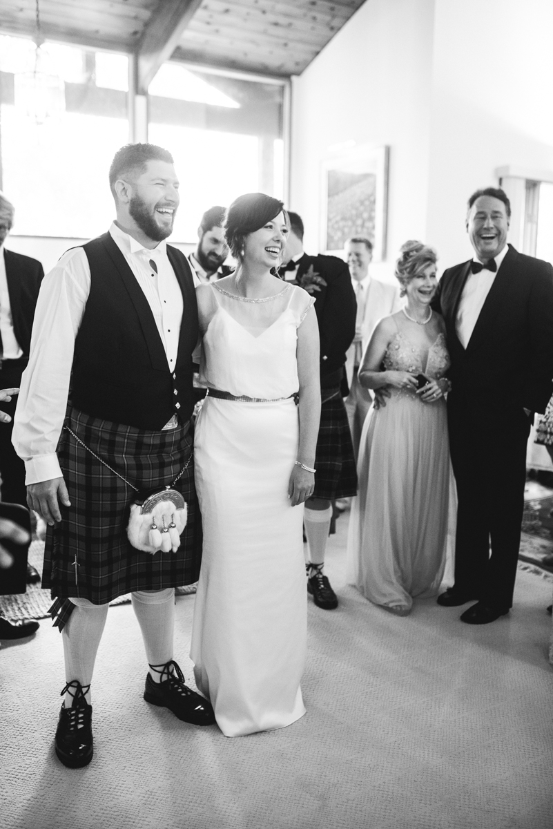 Scottish Themed Wedding with Burgundy, Navy, and Copper | Wedding Reception Toasts