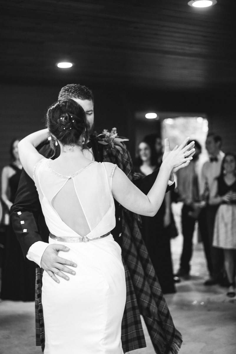 Scottish Themed Wedding with Burgundy, Navy, and Copper | Wedding Reception Dancing