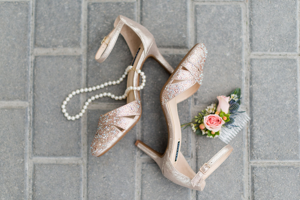 Blush and Burgundy Garden Wedding | Champagne Wedding Shoes