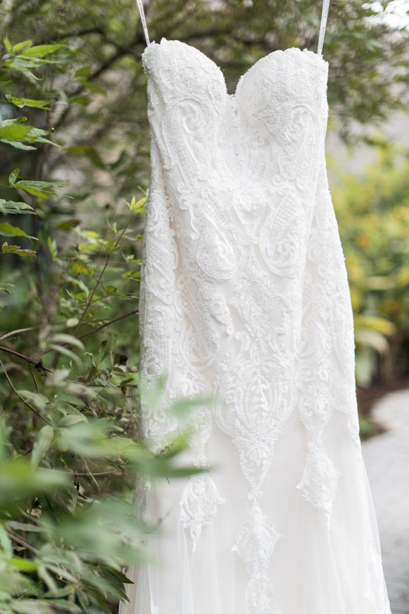Blush and Burgundy Garden Wedding | Maggie Sottero wedding dress