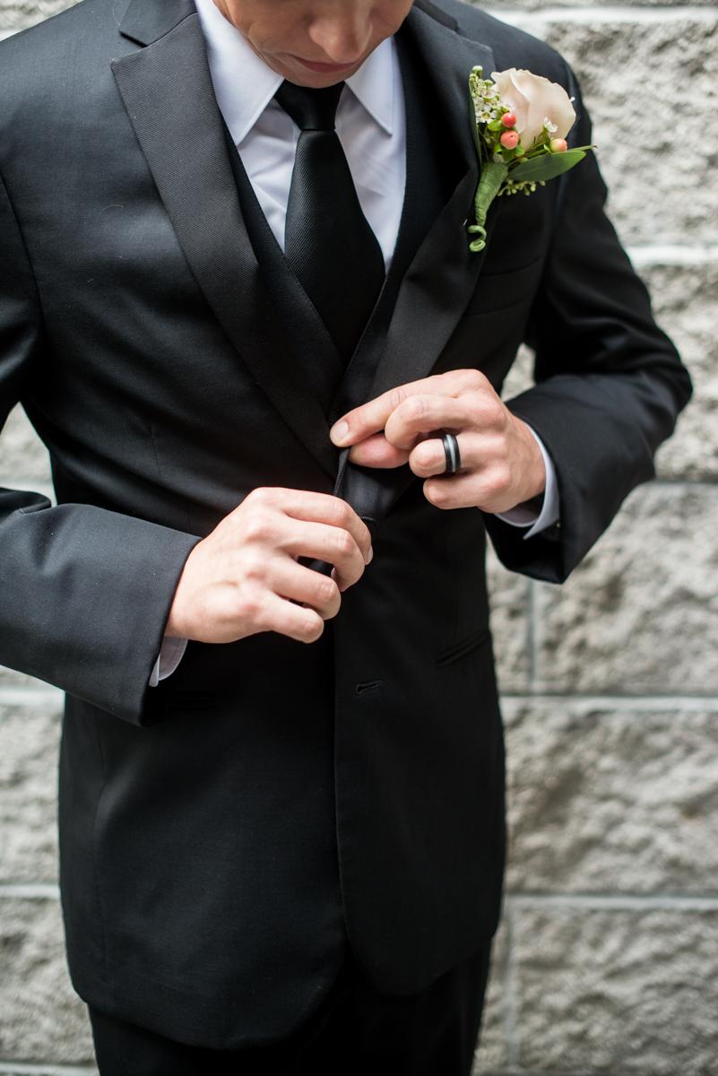 Blush and Burgundy Garden Wedding | Groom Getting Ready