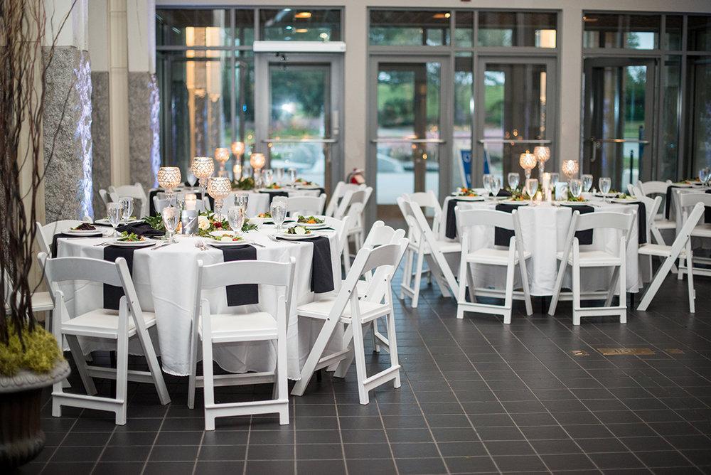 Blush and Burgundy Garden Wedding | Evening reception space