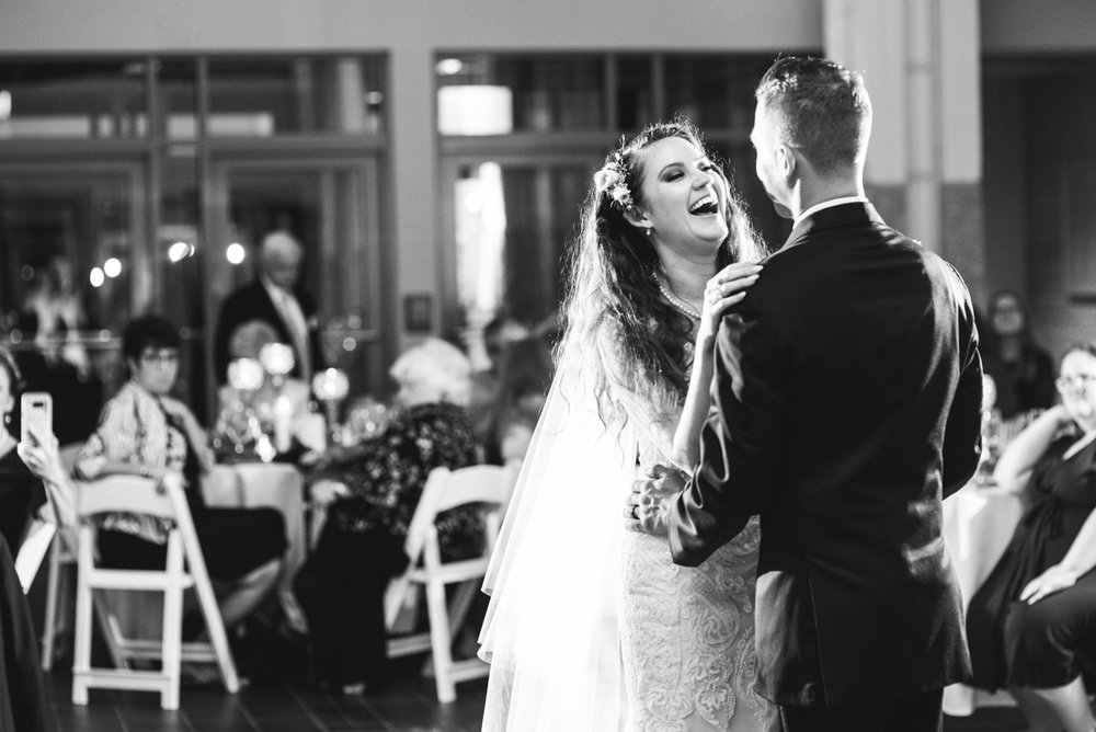 Blush and Burgundy Garden Wedding | Bride and groom first dance