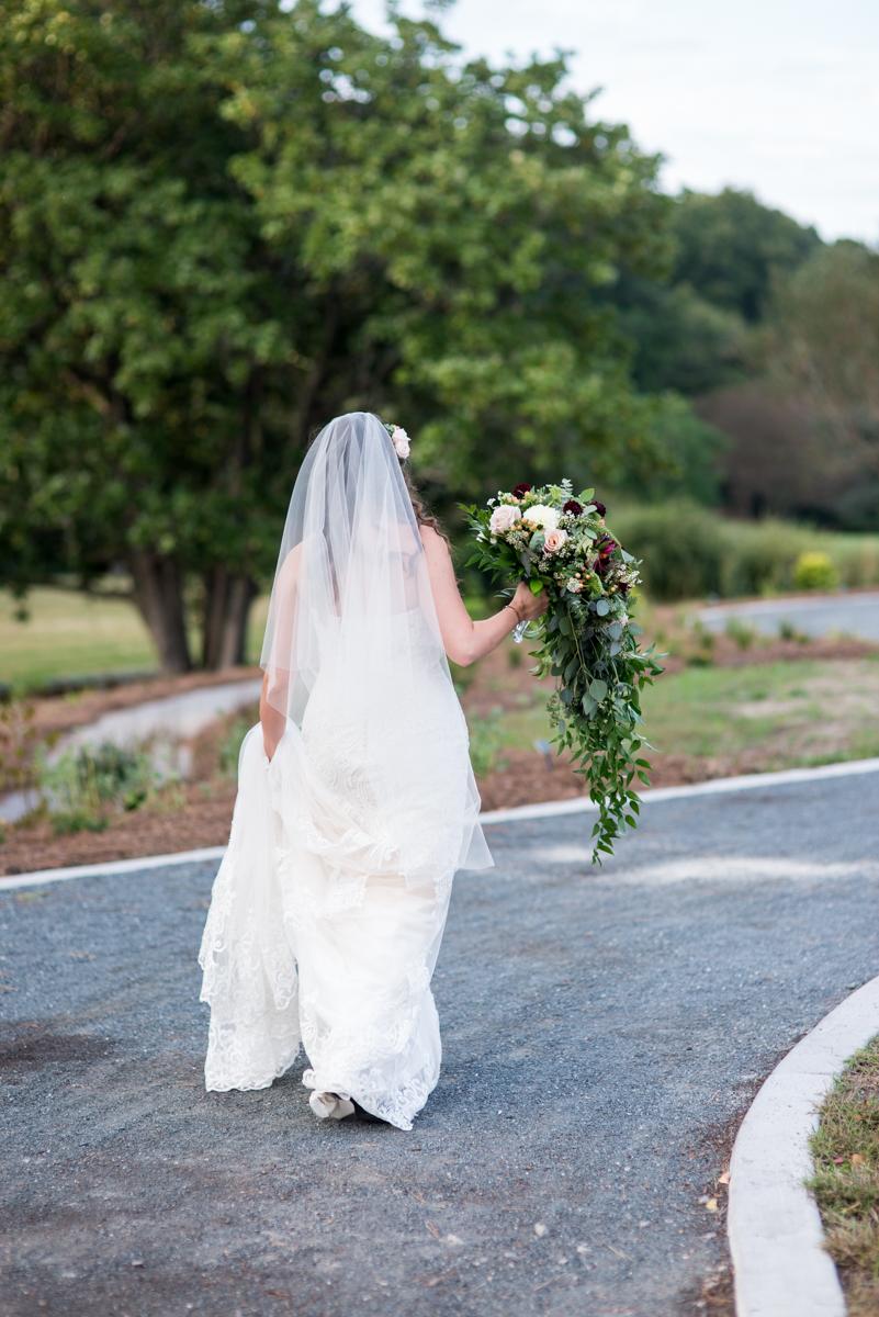 Glowy Spring Bridal Portraits with Cascading Bouquet