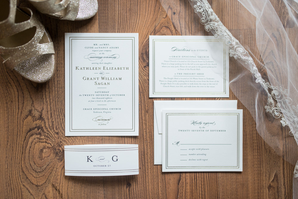 Gold, Blue, and Burgundy Fall Wedding | White and Gold Wedding Invitations
