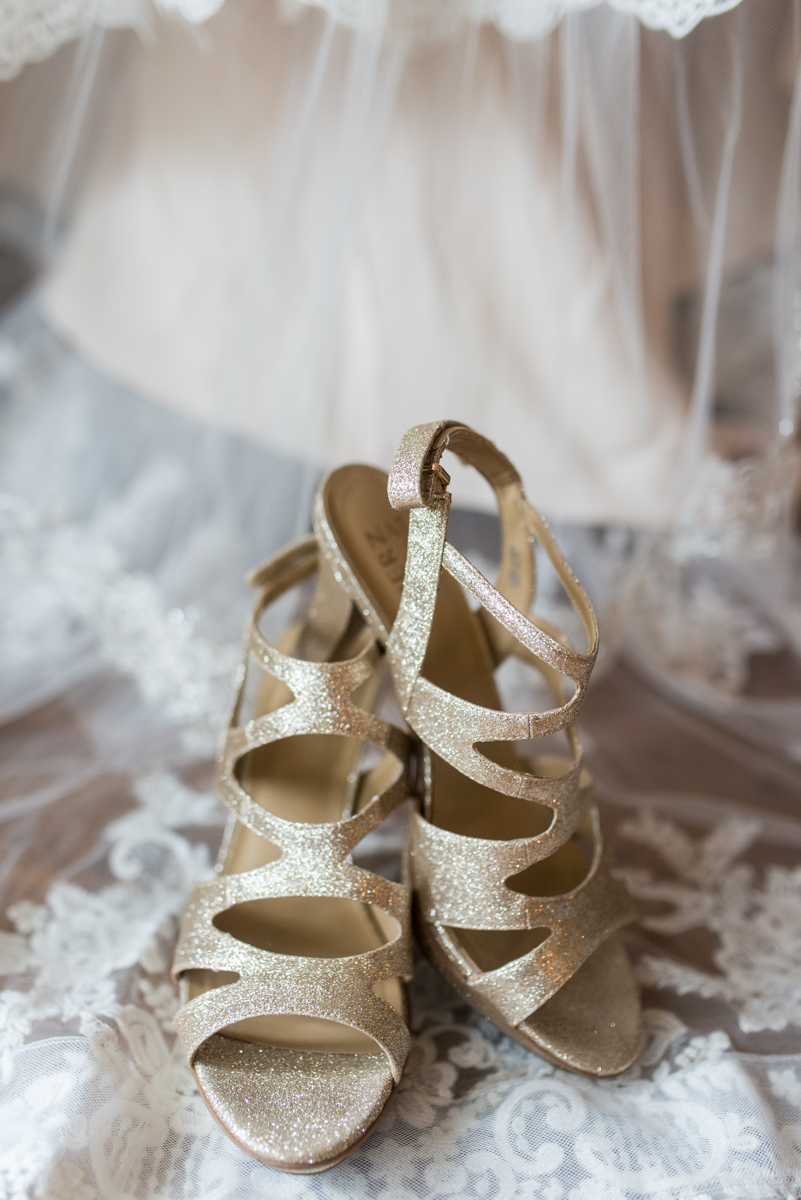Gold, Blue, and Burgundy Fall Wedding | Gold Wedding Shoes