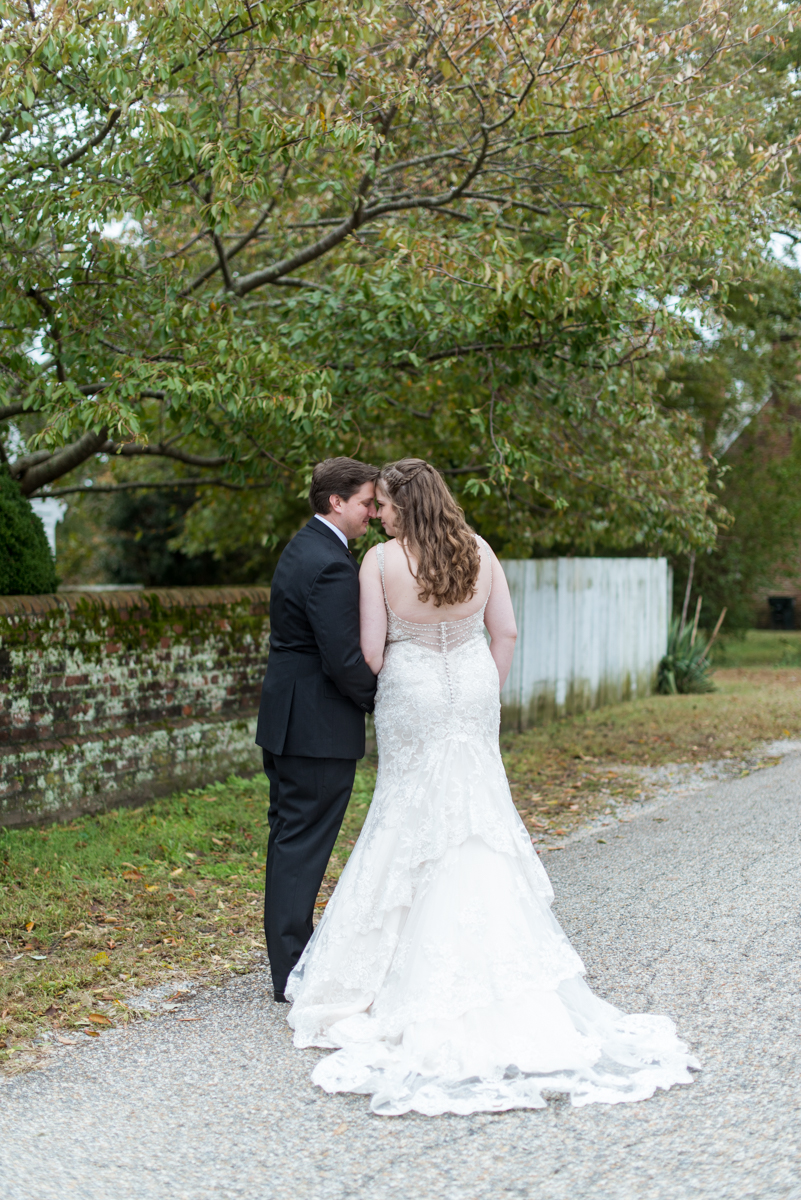 Gold, Blue, and Burgundy Fall Wedding | Bridal portrait