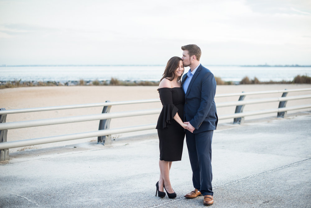 Elegant Waterfront Engagement Session