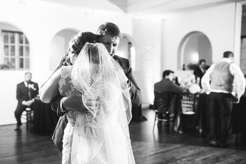 Burgundy and Pale Blue Winter Wedding | Father daughter first dance