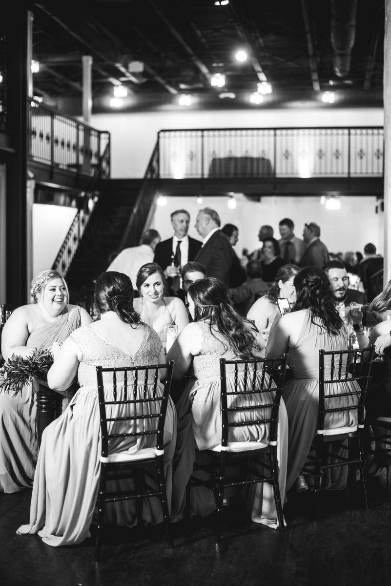 Burgundy and Pale Blue Winter Wedding | Winter wedding reception