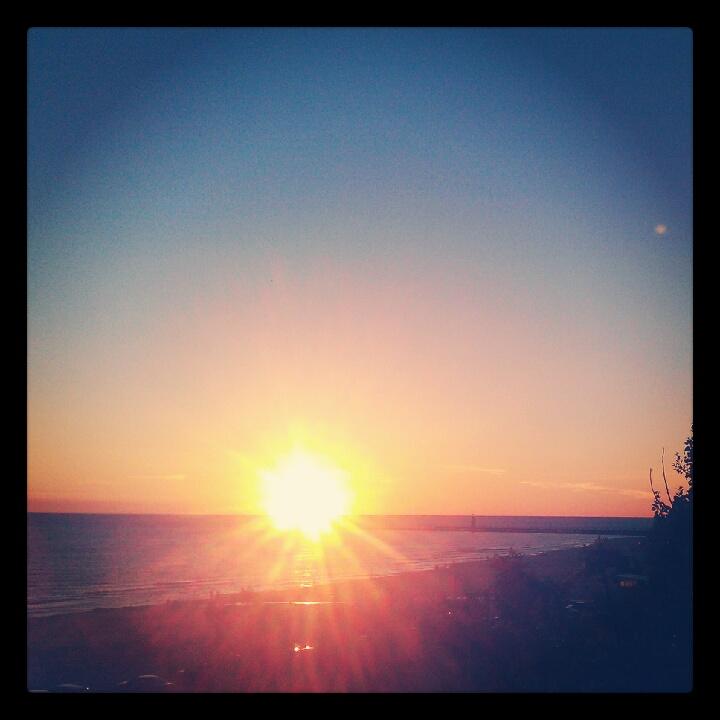 Pure Michigan sunset in Grand Haven.