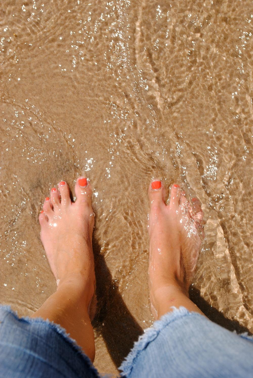 Feet in Northern Michigan.