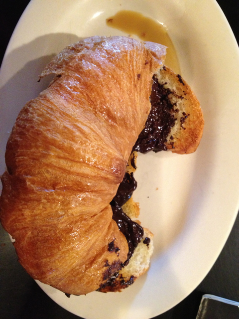chocolate croissant post-1/2 marathon.