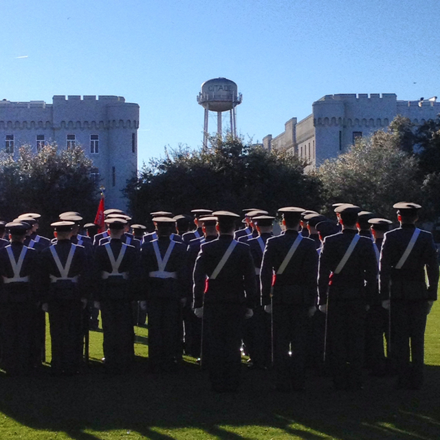 Citadel dress parade.  Had to visit Pat Conroy's alma mater.