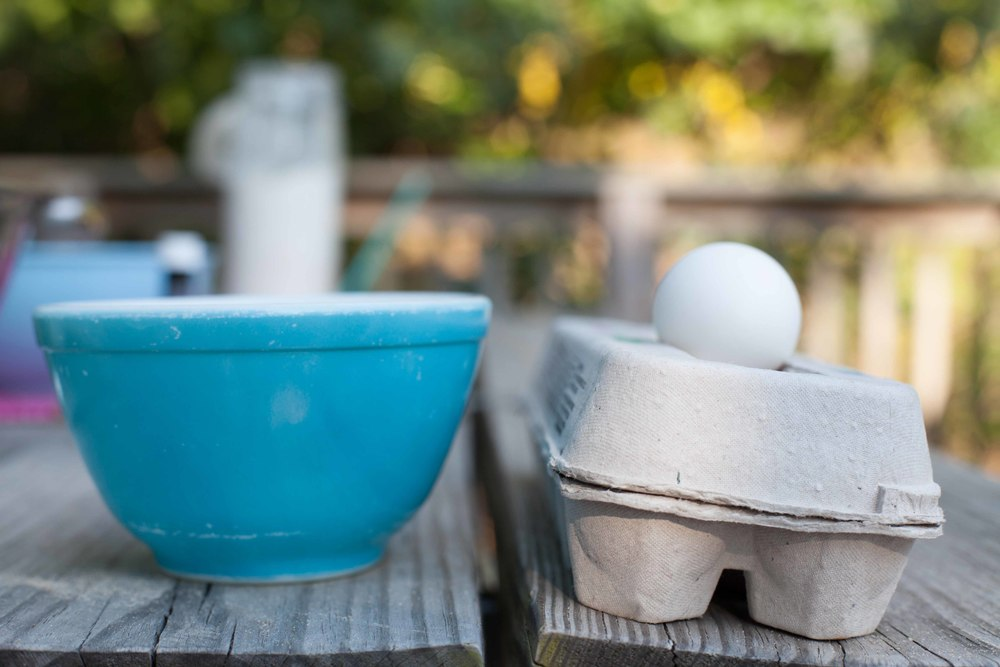 Egg for egg wash.  Plus an adorable Pyrex bowl.