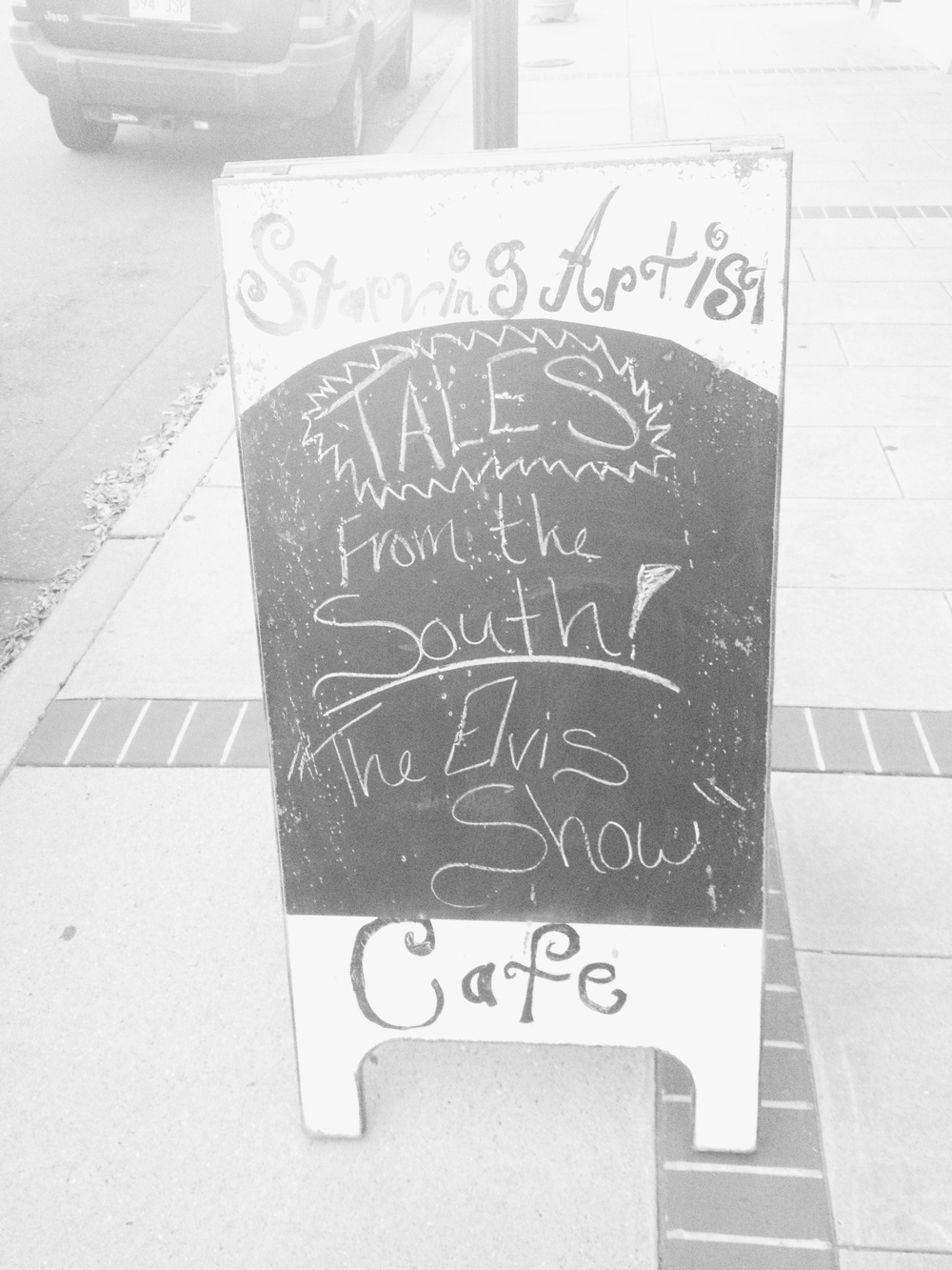 Tales from the South at Starving Artist's Cafe in Arenta neighborhood of Little Rock, AR.