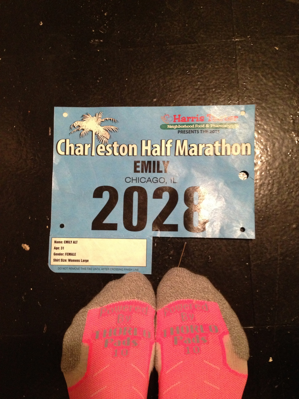 Pre-Charleston Half Marathon 2013.  Just registered for the 2014 race last week and know I won't be disappointed...I mean, they give you shrimp and grits at the end.  Done.