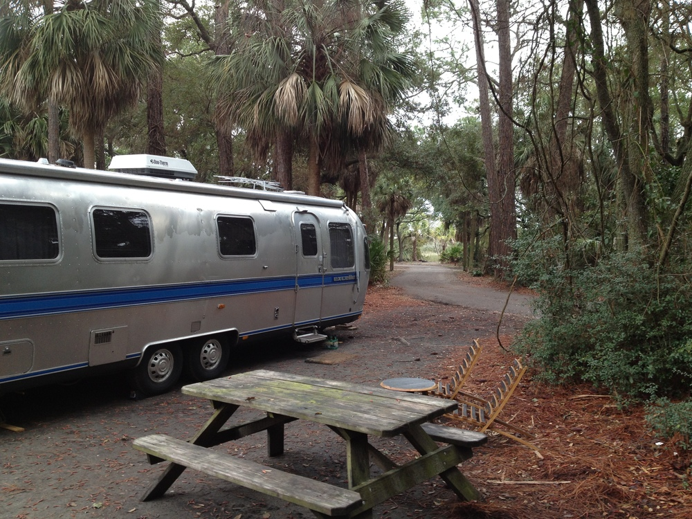 Our campsite in Hunting Island State Park outside of Beaufort, SC.  We've been here about 5 days now and will leave Monday for New Orleans!