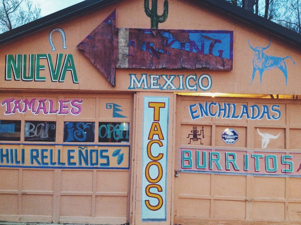 New Mexican restaurant we ate at on the other side of the bridge in Mandeville. It was really, really good.