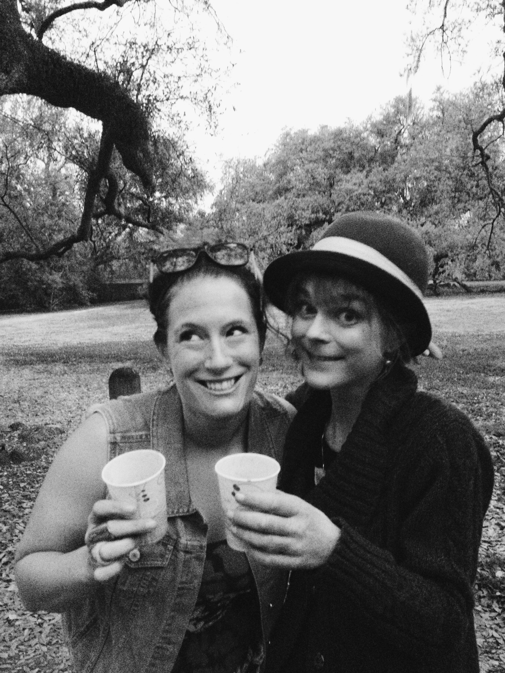 Amy and myself post-Pop Up.  We are drinking red wine out of paper cups. Obviously.