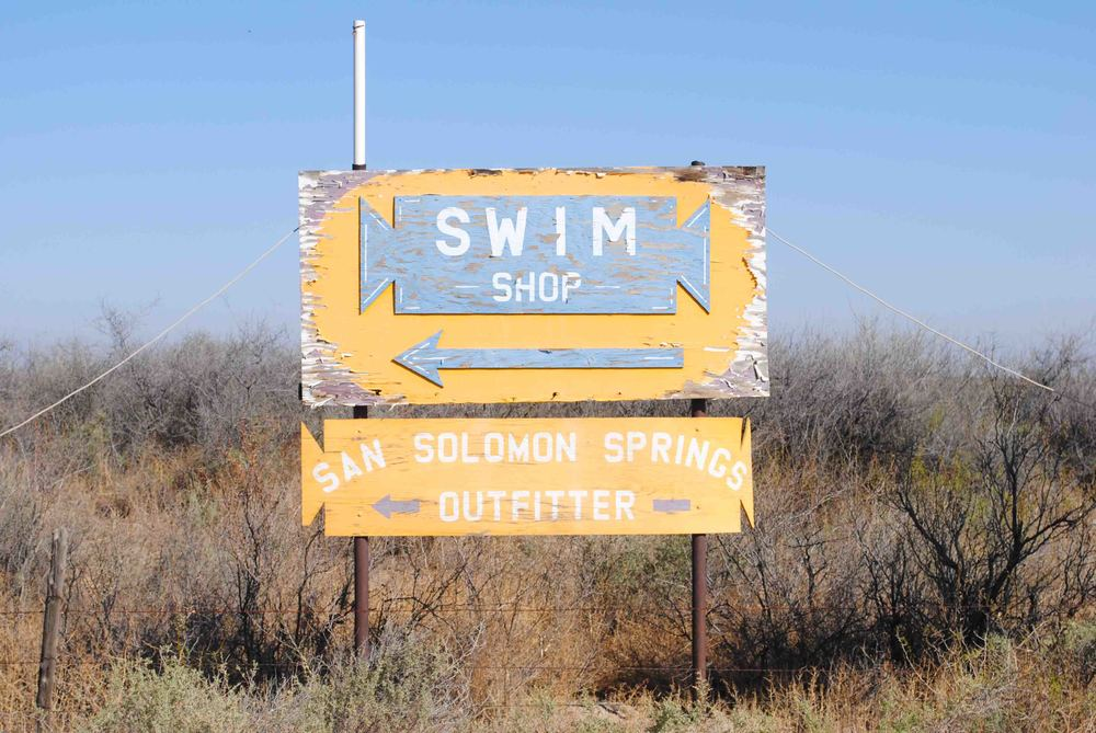 There's something hilarious about a swim shop in the middle of the West Texas desert.