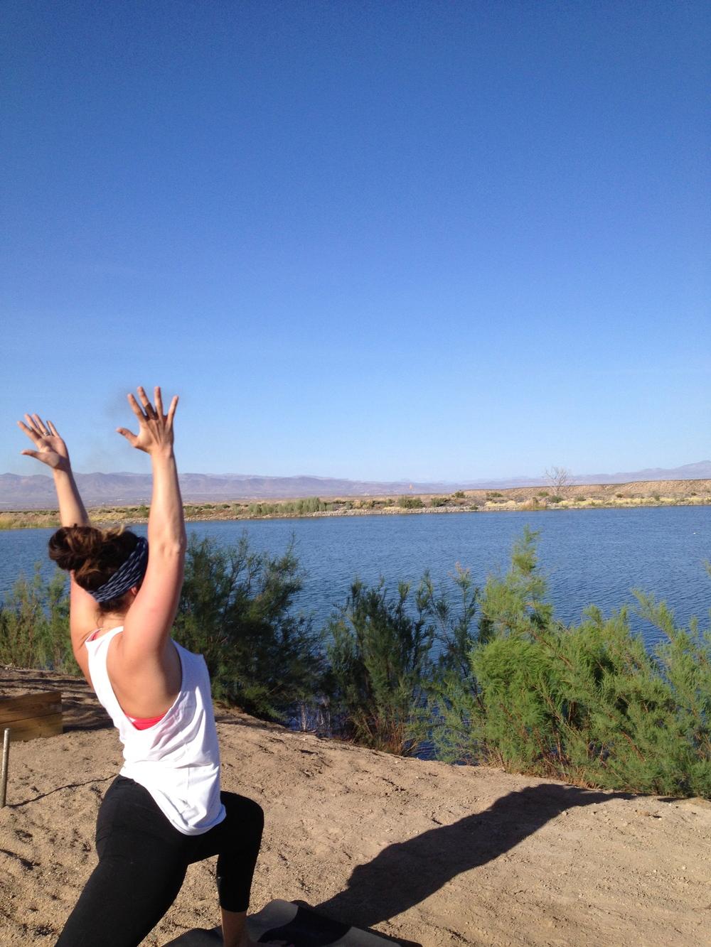 Yoga on Friday evening in Arizona.