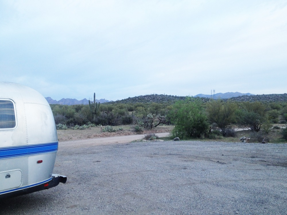 Cow pasture campsite outside of Superior, AZ.