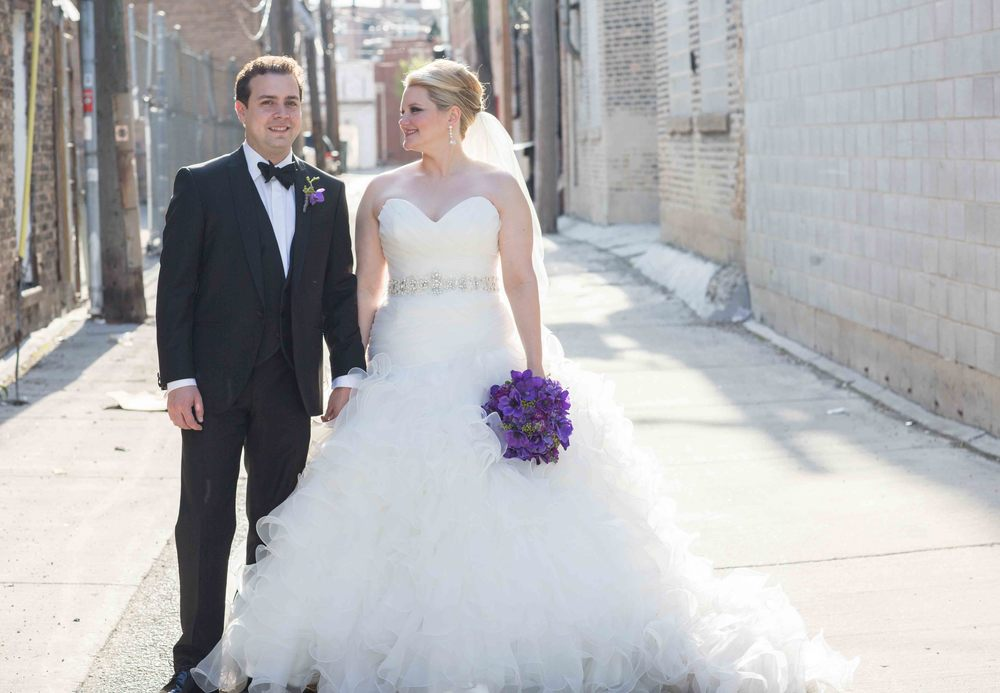 Bridget and Eric. I'll just wait while you revel in her dress. I know. It took everyone's breath away.