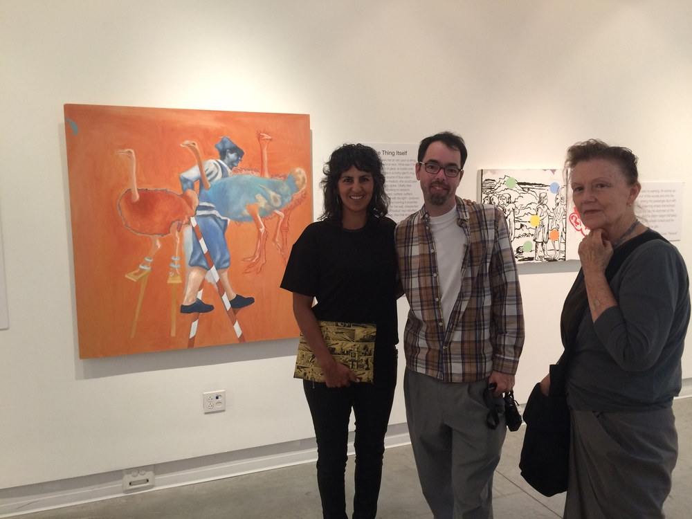 Me, Jared Millar, Mieke Gelley and Wavering and Quivering Self behind us.