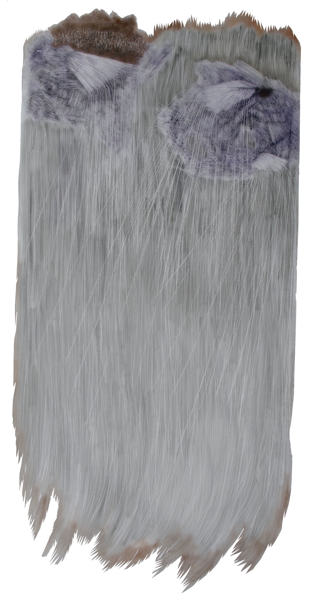 Untitled II (40 inches x 70 inches-pastel and powdered graphite erasing on dura-lar)