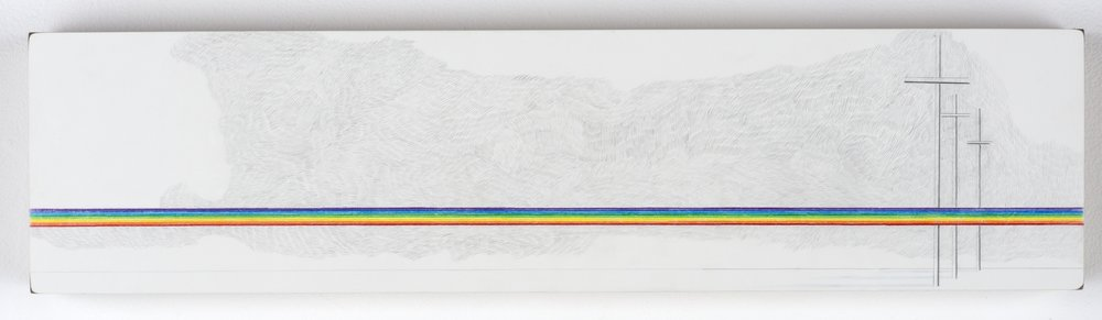 LANDSCAPE OF GOD'S COVENANT WITH HIMSELF 02  colored pencil on clayboard  6in. x 24in.  Private Collection